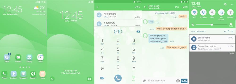 Samsung Galaxy Theme - EiD Simple Green
