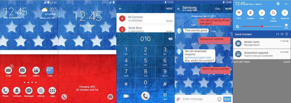 Samsung Galaxy Theme - I Love USA Theme
