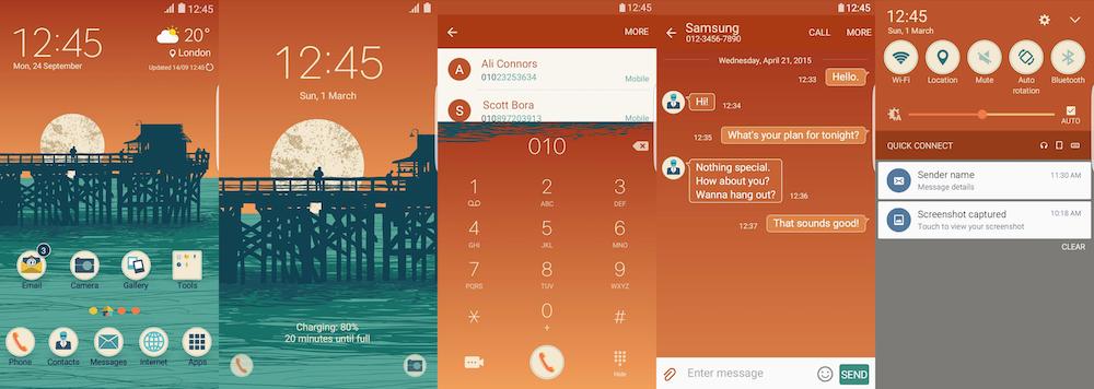 Samsung Galaxy Theme - Ocean View