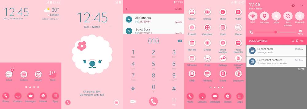 Samsung Galaxy Theme - Strawberry Milk Somi