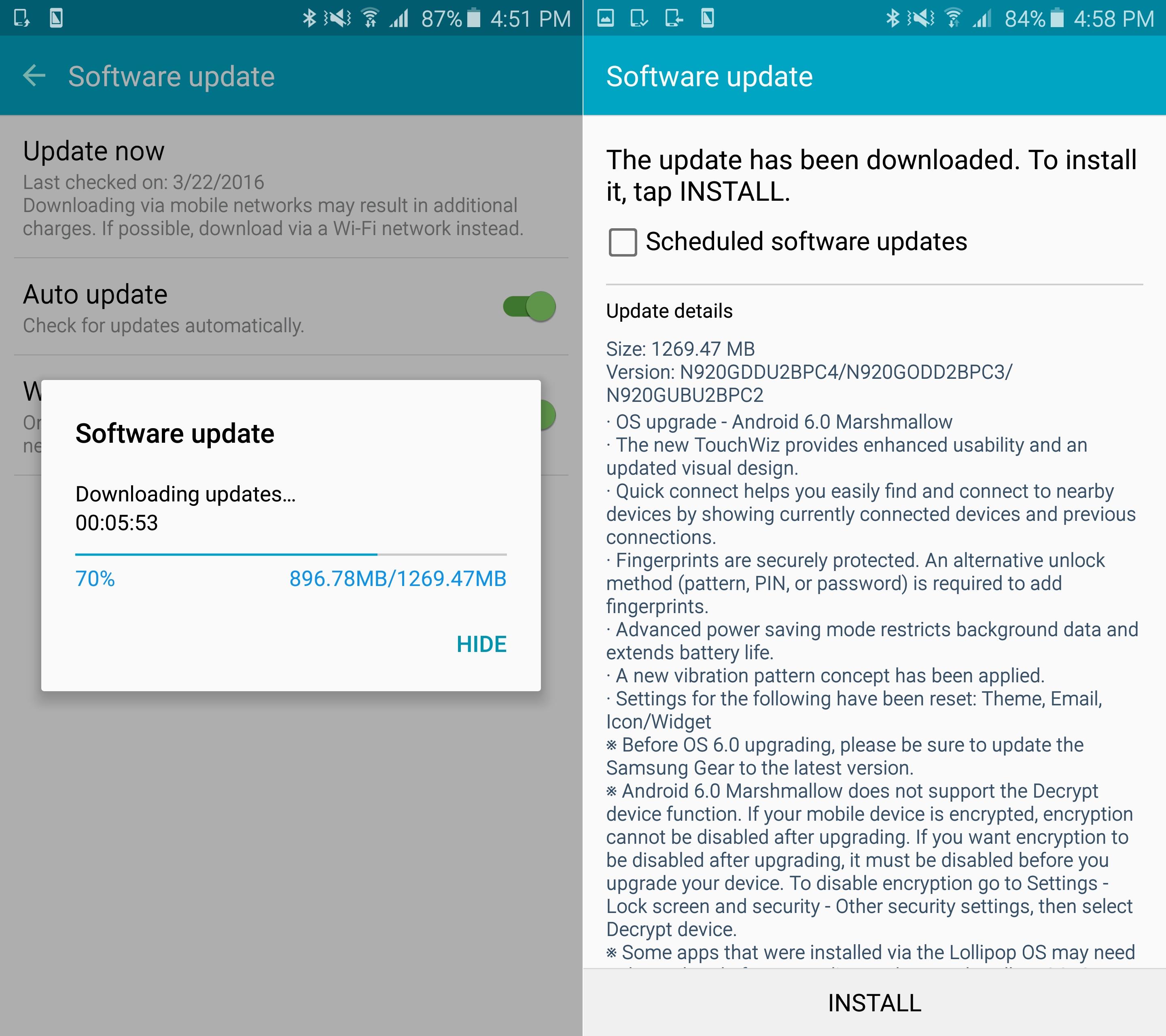 Samsung Galaxy Note 5 starts getting Marshmallow update in
