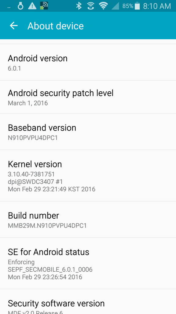 Galaxy Note 4 Marshmallow update released by Sprint