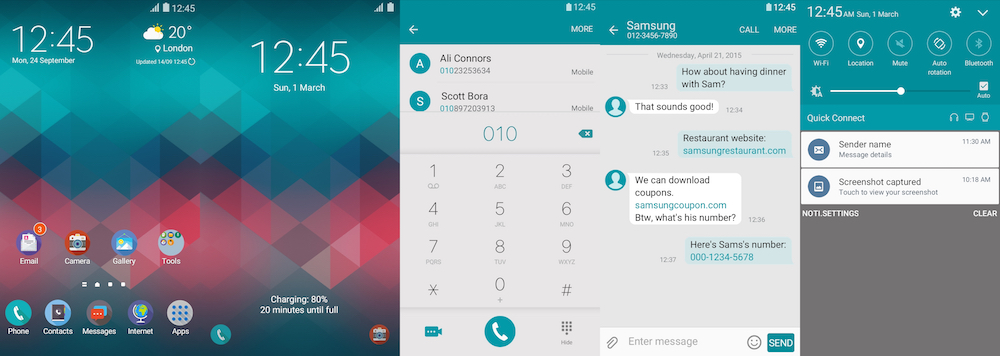 Samsung Galaxy Theme - Blue-Red - Paid