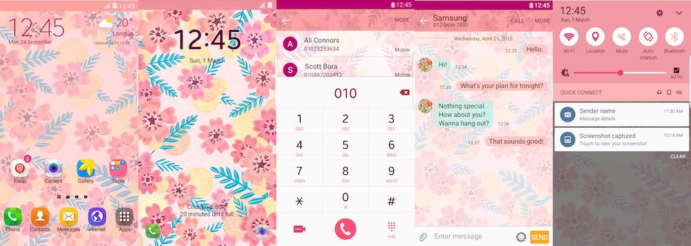 Samsung Galaxy Theme - Cherry Blossom