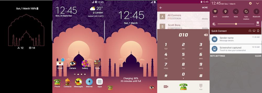 Samsung Galaxy Theme - Taj Mahal