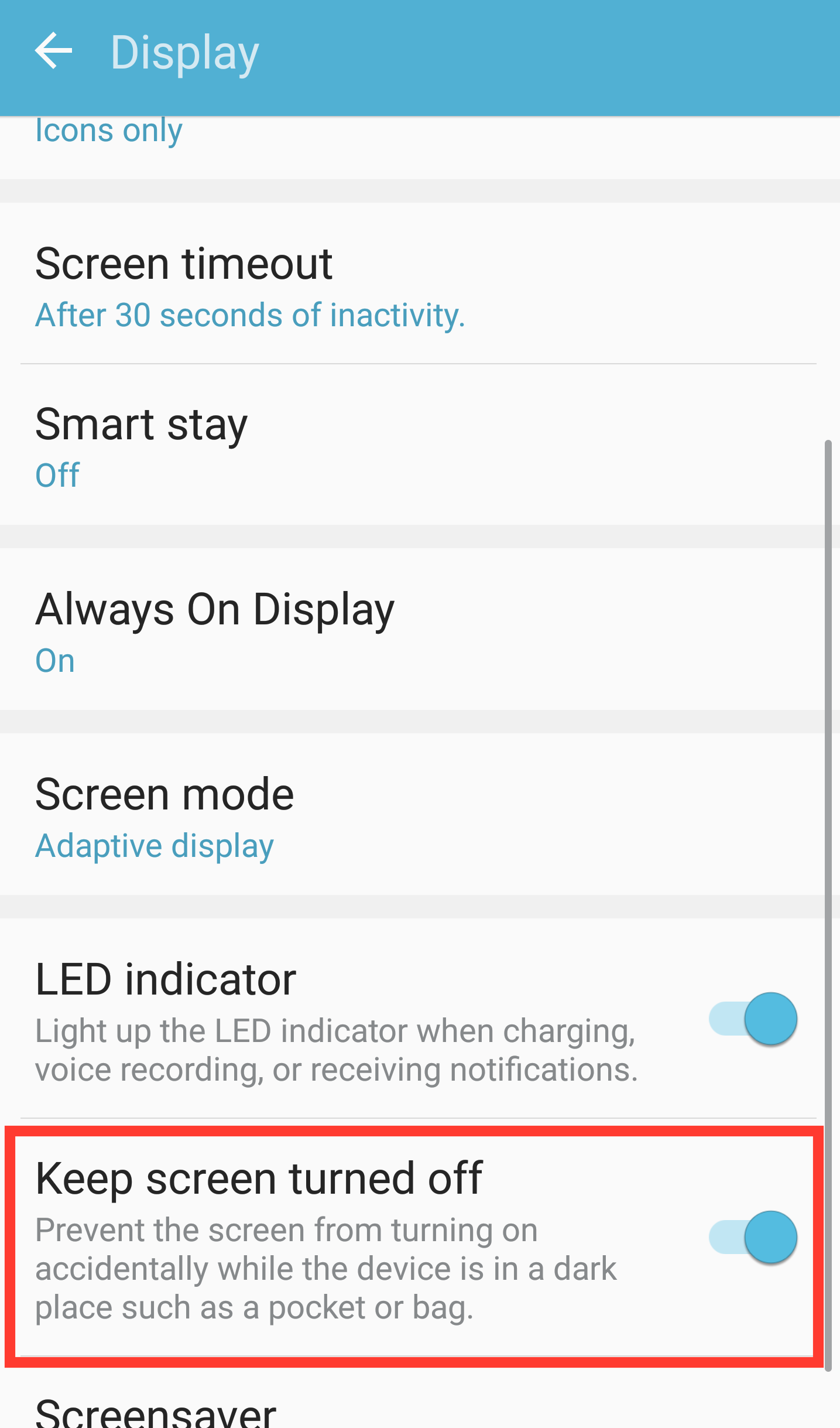 How to prevent your Samsung smartphone's screen from turning