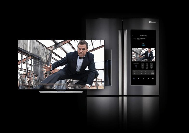 samsung tv refrigerator. samsung family hub smart refrigerator tv s