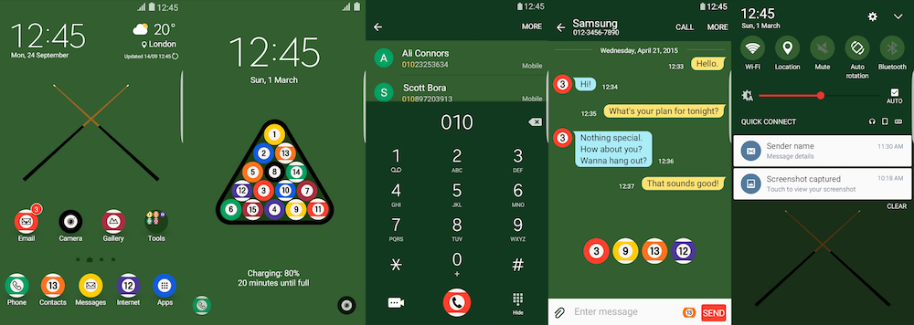 Samsung Galaxy Theme - Billiards