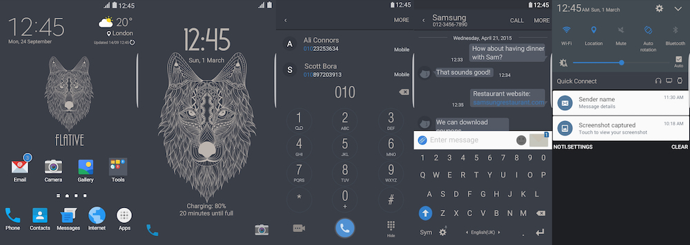 Samsung Galaxy Theme - Flative