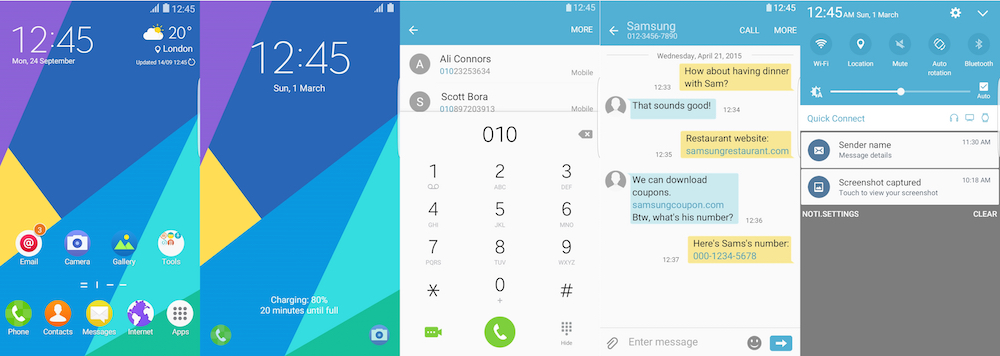 Samsung Galaxy Theme - Tizen UI