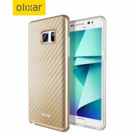 Samsung Galaxy Note 7 Olixar Carbon Gold