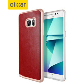 Samsung Galaxy Note 7 Olixar Leather Red