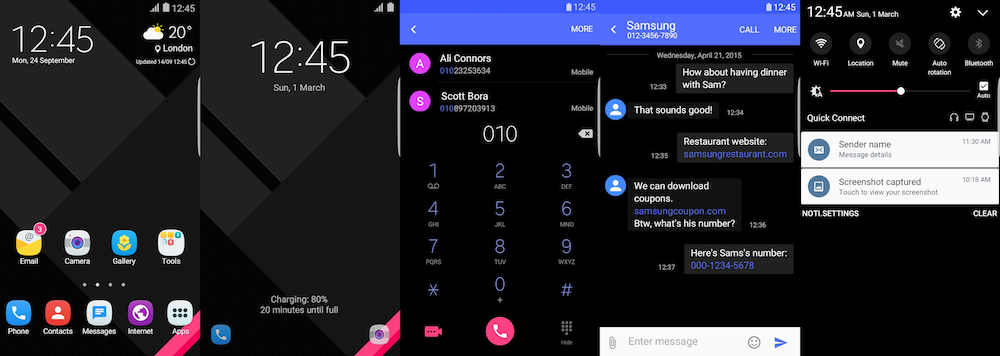 Samsung Galaxy Theme - [Kendi] Material UI Black