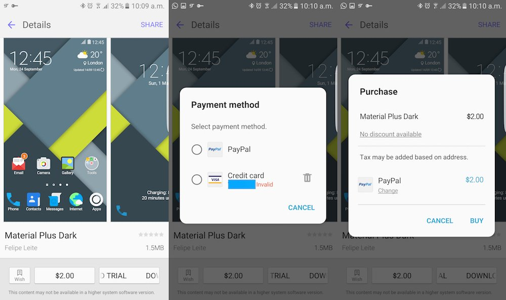 how to buy paid galaxy themes from samsung s theme store even if