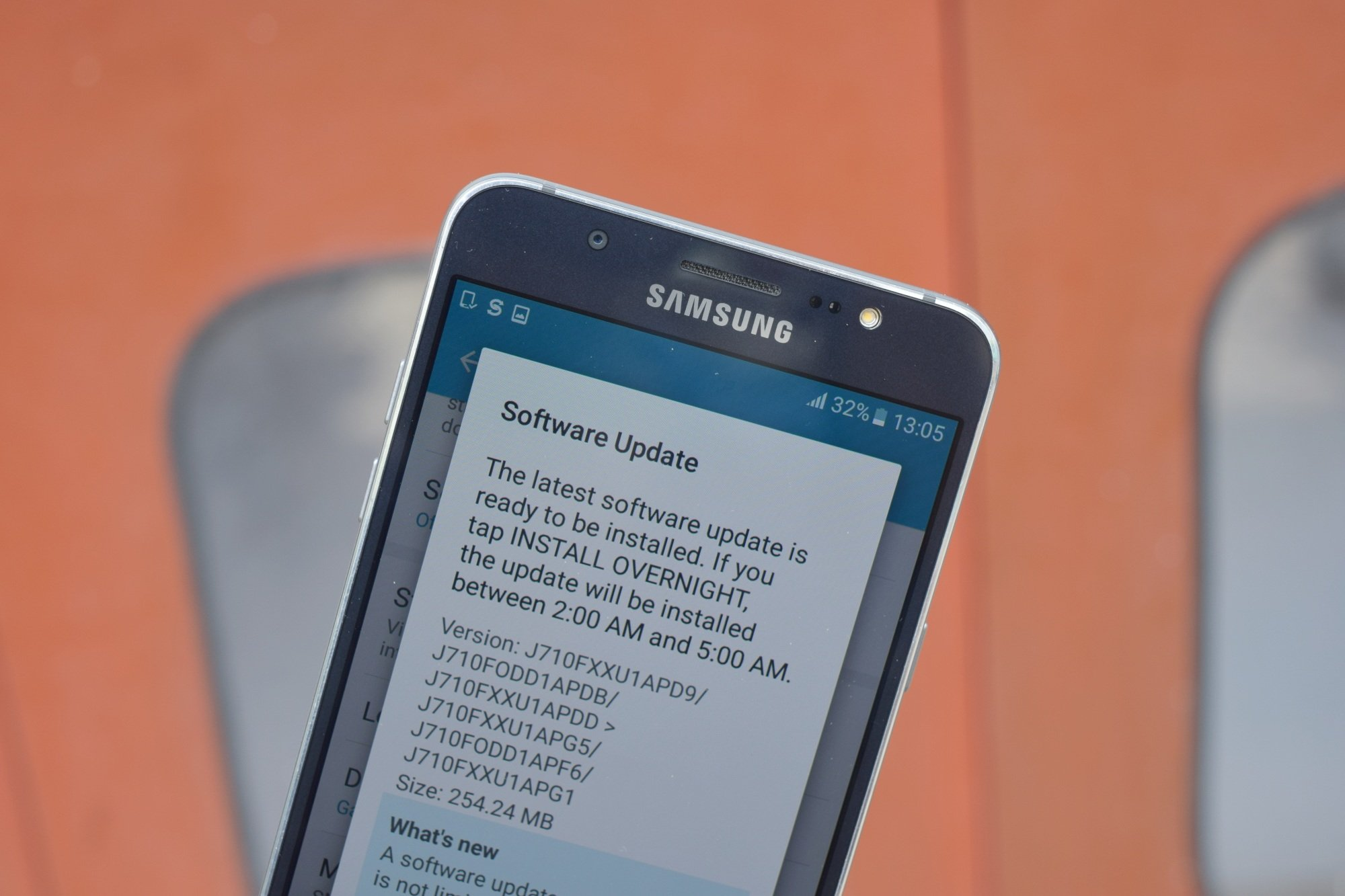 Samsung Galaxy J7 (2016) gets a software update in India