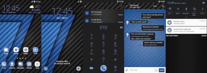 Samsung Galaxy Theme - Carbon Fibre Blue