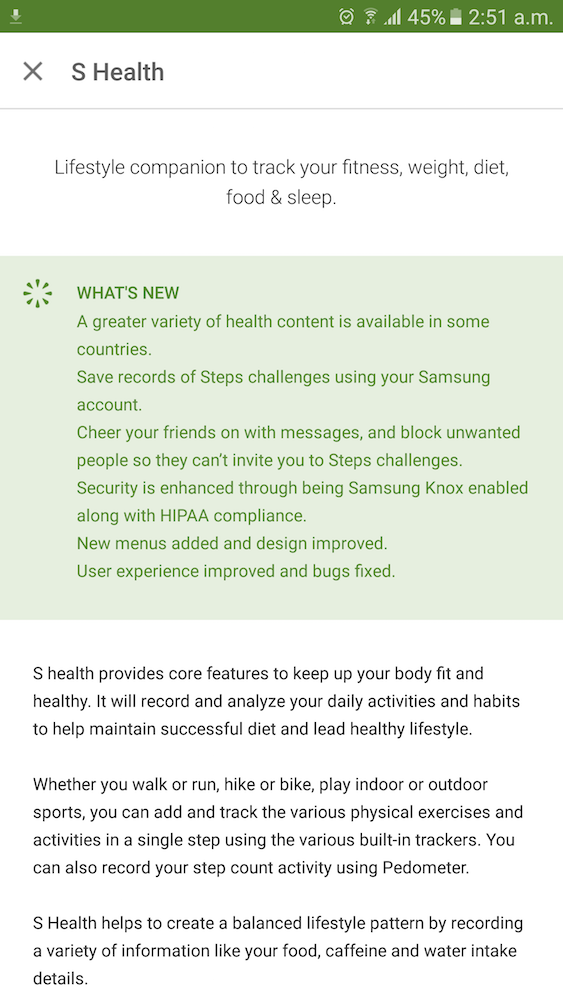 Samsung S Health App Update 01