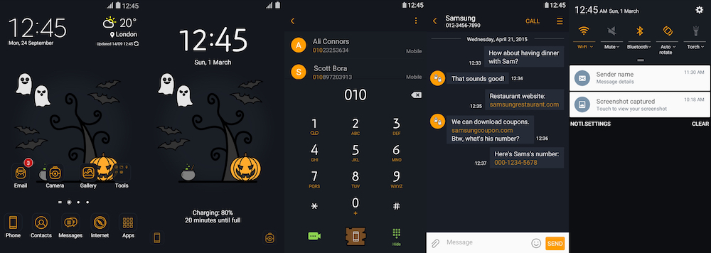 themes thursday halloween themes for your galaxy smartphone that