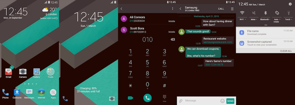 Samsung Galaxy Theme - [Kendi] MateriOS Black