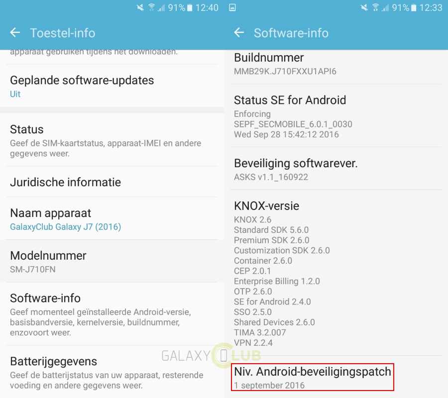 Galaxy J7 (2016) now receiving September security patch in