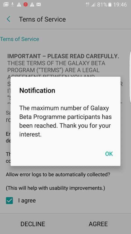 Update: Spots filled] Samsung reopens registrations for