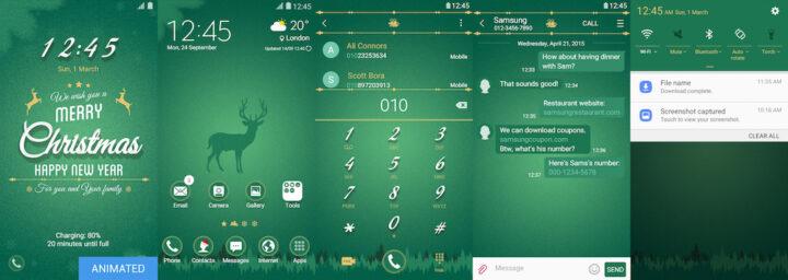 Samsung Galaxy Theme - EiD - Green Christmas (Live)
