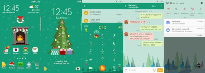 Samsung Galaxy Theme - Greeny Christmas - Paid