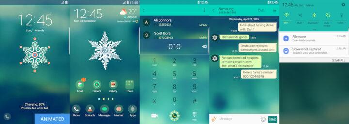 Samsung Galaxy Theme - Snowflake (Live)_Biogi - TheNew