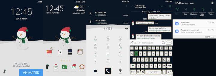 Samsung Galaxy Theme - [Walk On Mars] Snowy Snowman