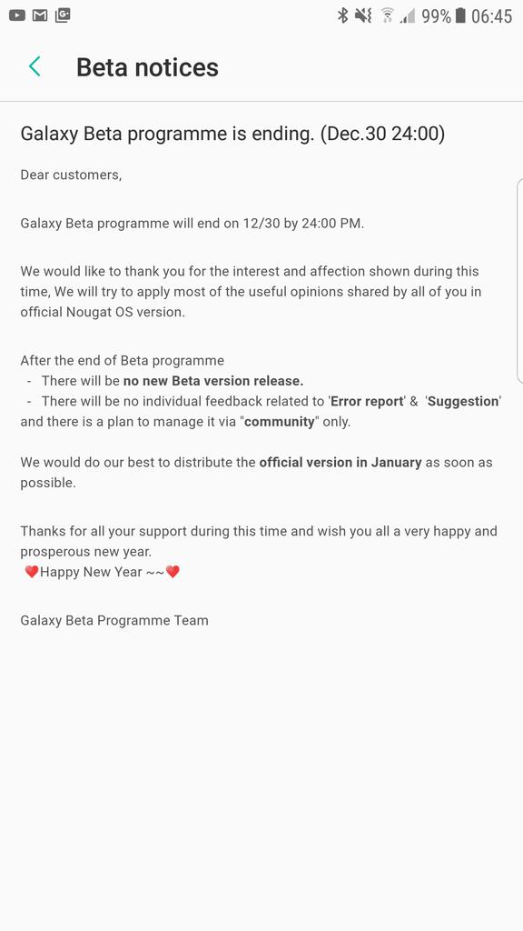 Ifølge denne meldingen kan Galaxy S7 få Android 7 i januar.