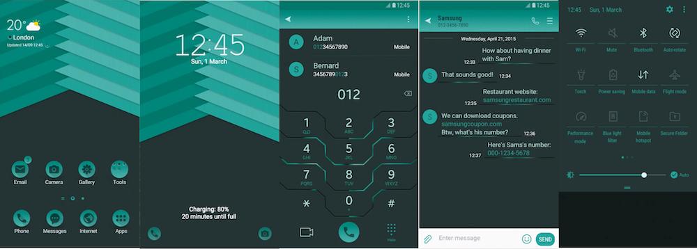 Samsung Galaxy Theme - Aqua UI