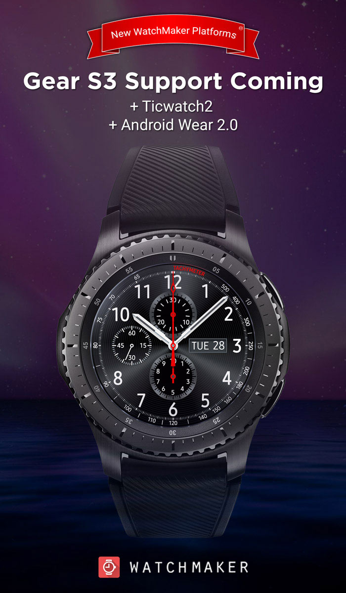 WatchMaker For Samsung Gear S2 and Gear S3