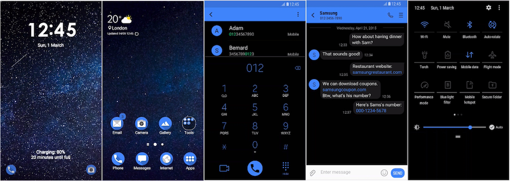 Samsung Galaxy Theme - [Anup] Neel Black UI