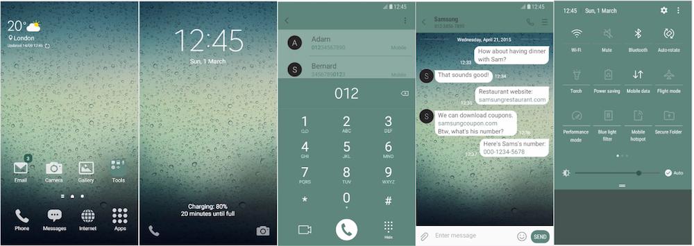 Samsung Galaxy Theme - [LINCEDECO] Rainy Day