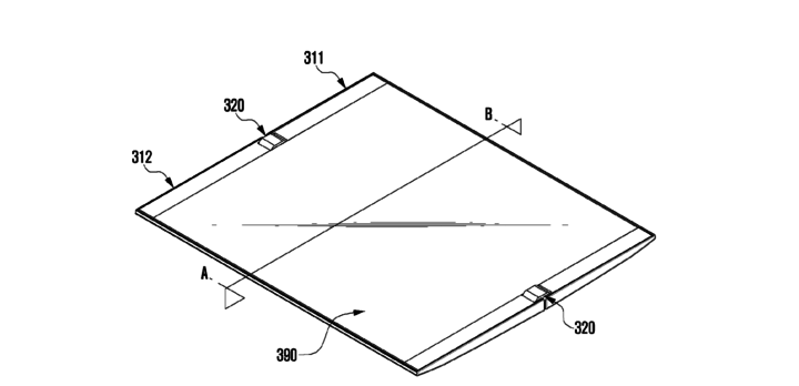 Samsung Patent Application For Device With Flexible Display And Hinge - 02