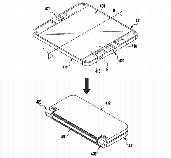 Samsung Patent Application For Device With Flexible Display And Hinge - 07