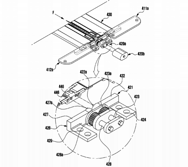 Samsung Patent Application For Device With Flexible Display And Hinge - 08