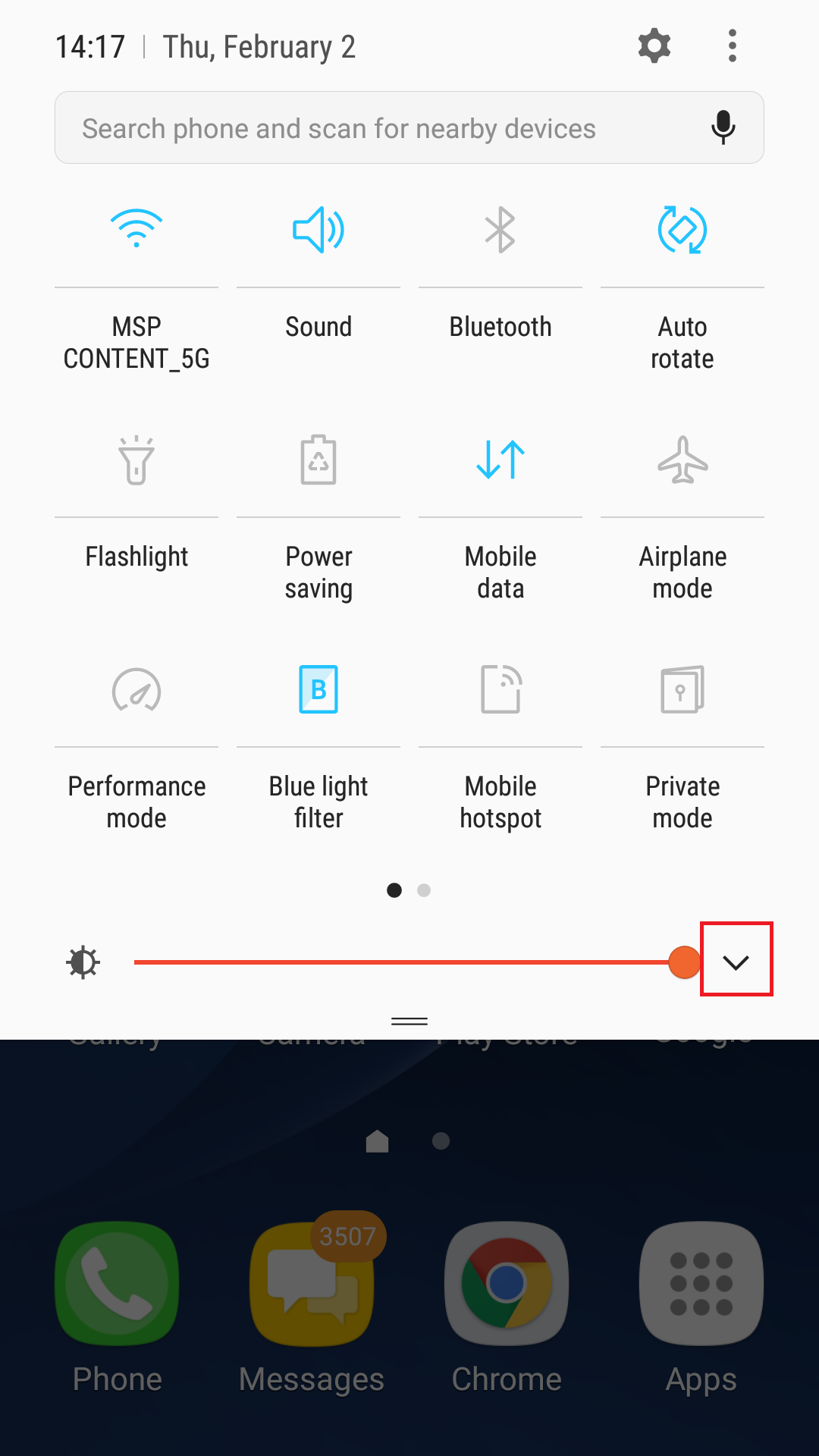 how to put mobile data on notification panel galaxy s8