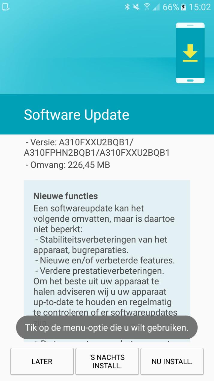Galaxy A3 2016 Feb Security Patch 1