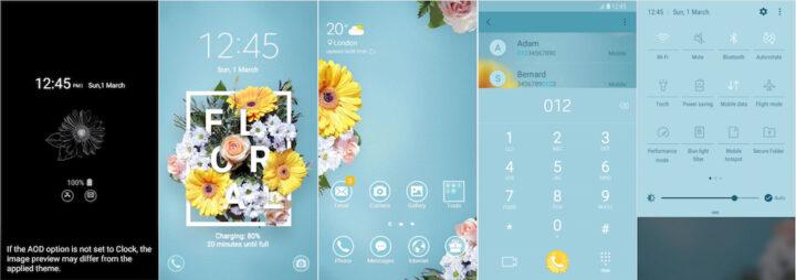 Samsung Galaxy Theme - Floral & MOH (AOD)