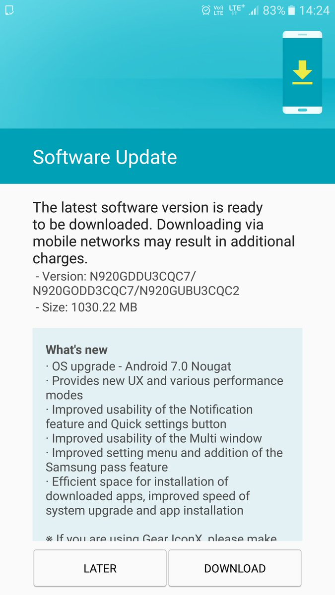 Firmware now online] Samsung releases Android 7 0 Nougat for the
