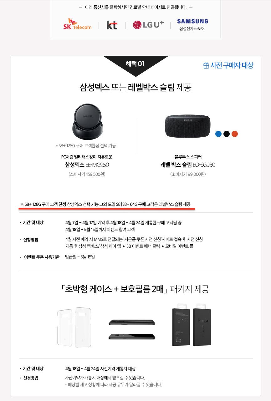 Samsung Galaxy S8 6GB RAM 128GB Storage