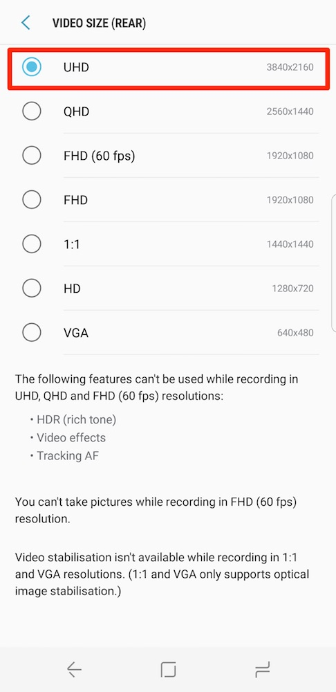 Galaxy S8 Tip: Here's how to enable image stabilization for smoother
