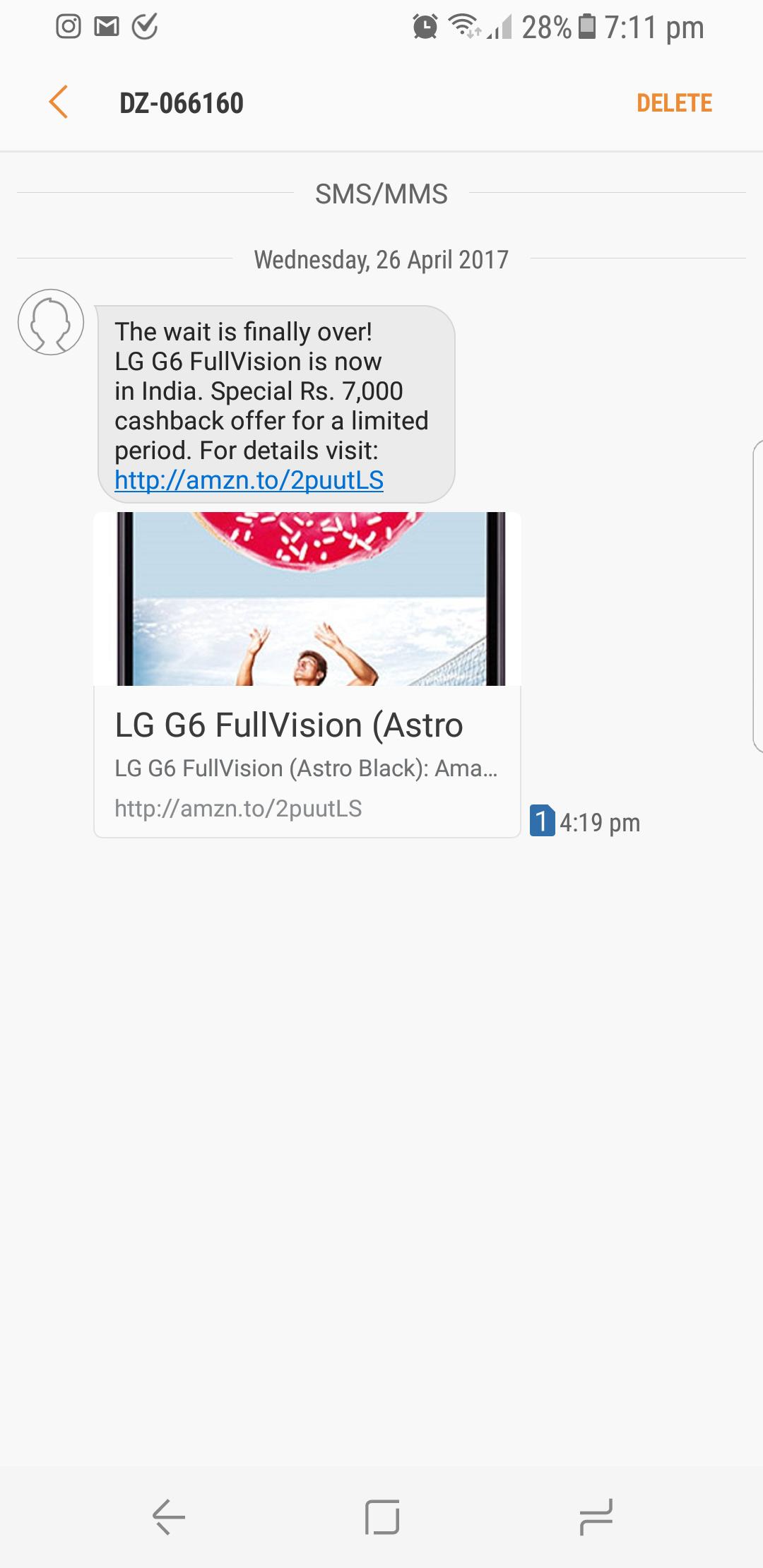 PSA: Galaxy S8's messages app shows web link previews