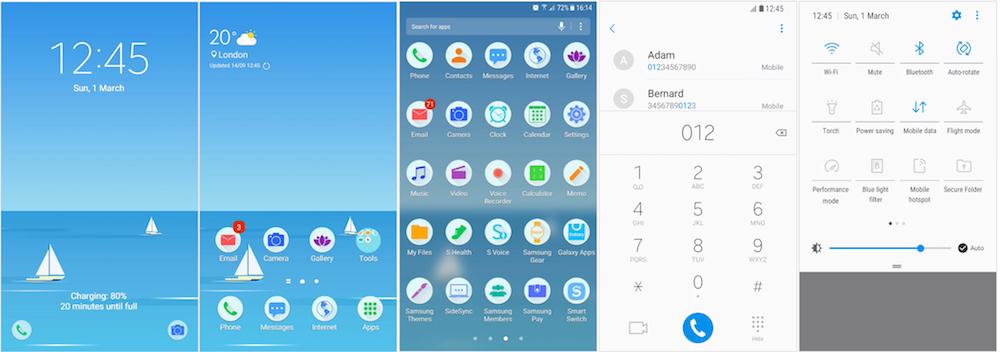 Samsung Galaxy Theme - [Code Art] Nice Day