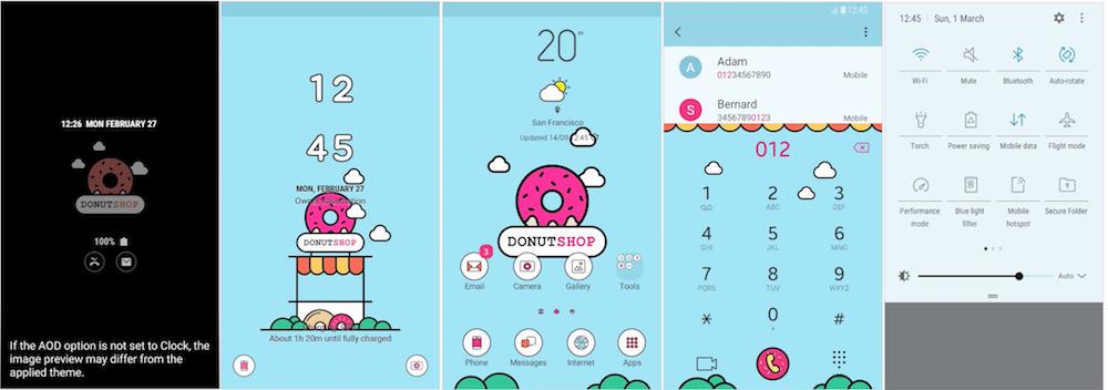 Samsung Galaxy Theme - Donutshop & MOH (Live & AOD)