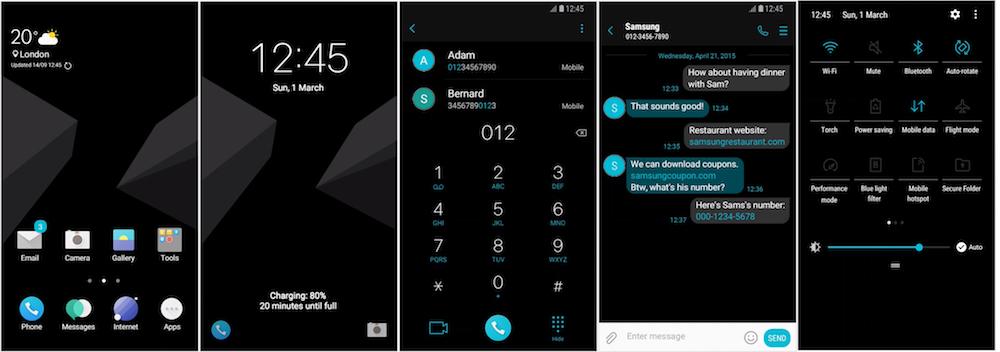Samsung Galaxy Theme - [Kendi] Oxy OS Black