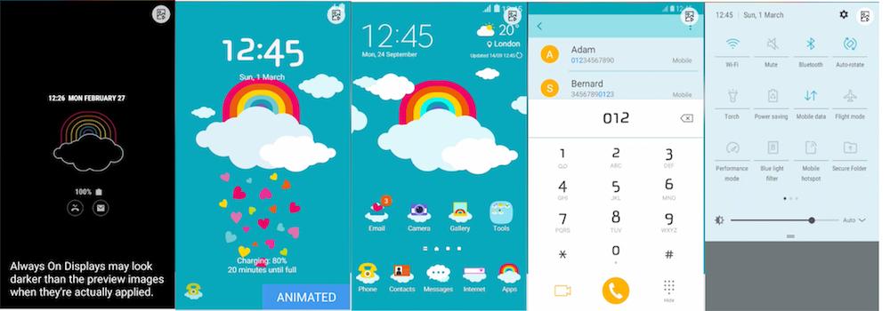 Samsung Galaxy Theme - Raining Love (AOD)