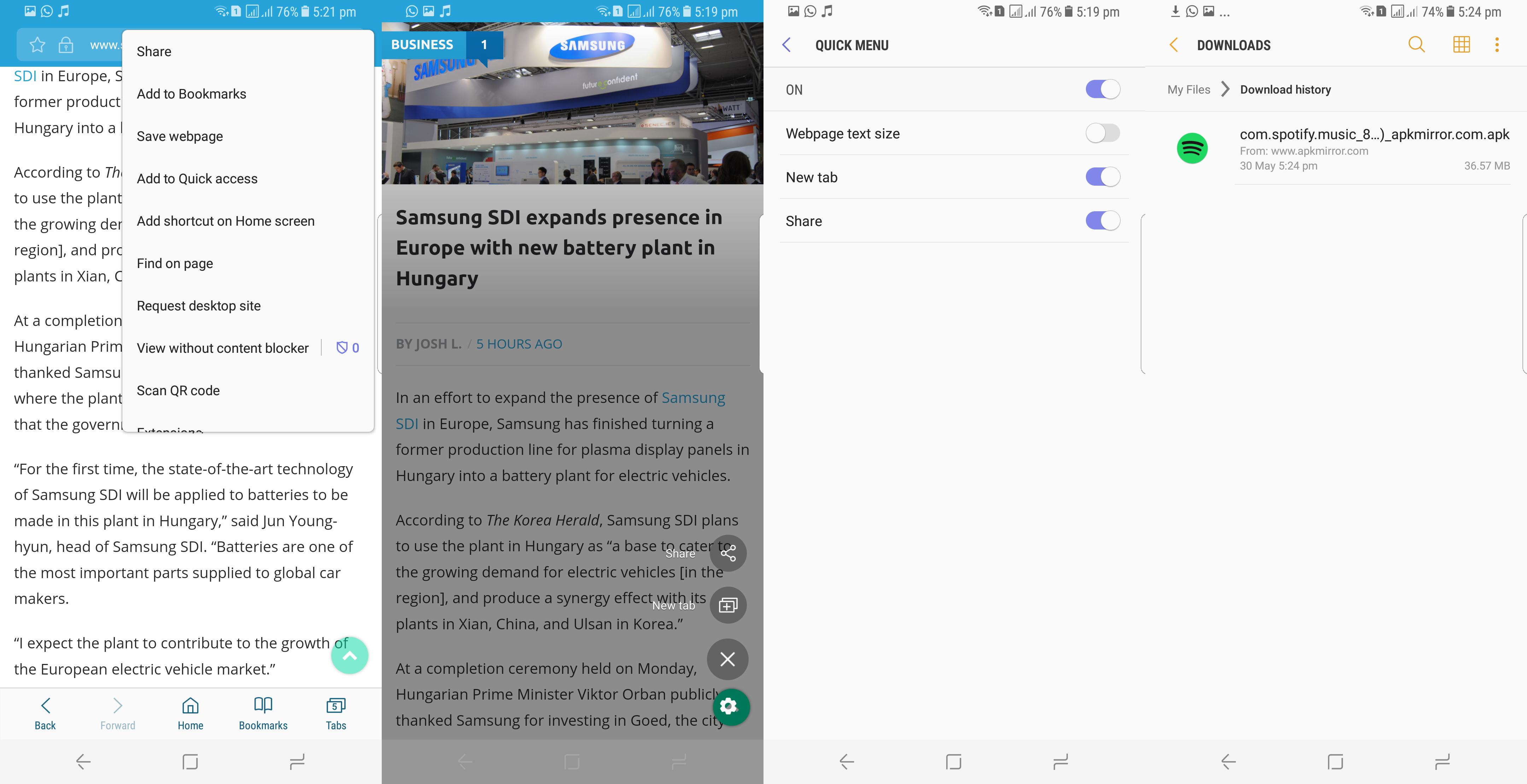 Samsung Internet Review - 03