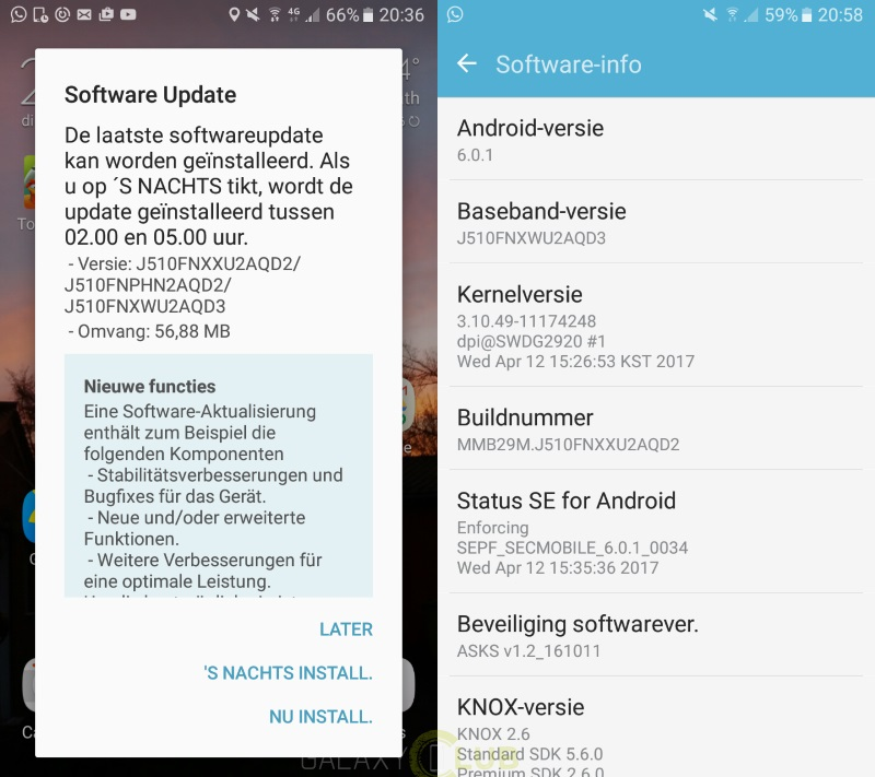 Galaxy J5 (2016) receives April security patch in Europe